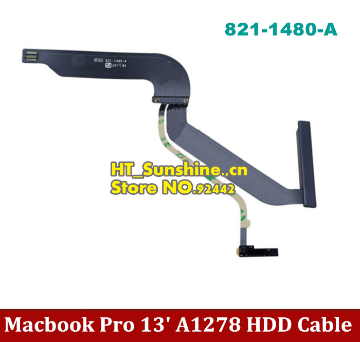 1PCS New HDD Cable for 13 Macbook Pro A1278 101 102  MD313 MD314 MC723 HDD Cable 821-1480-A original hdd cable for 13 macbook pro a1278 101 102 md313 md314 mc723 hdd cable 821 1480 a 2pcs lot