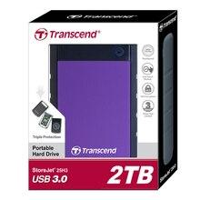 U.S. Military-grado de la Protección Anti-shock 25H3 Transcend USB 3.0 Disco Duro Externo de 2 TB HDD Disco Duro unidad 2 T 2000 GB De Almacenamiento