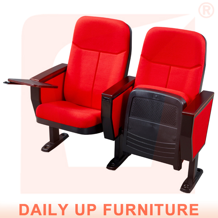 Folding Chair For Auditorium Chair With Writing Tablet