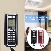 FSK/DTMF Vaste Telefoon Caller ID Telefoon Vaste Telefoons Mode Extension Telefoon voor Home Office Hotel Zwart Rood