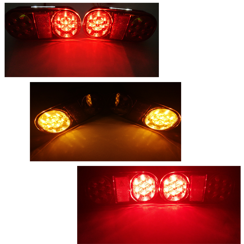 Image 4 - 1 Pair AOHEWEI 12v 18 leds trailer light  brake stop position led light turn light License Plate number plate tail light truck-in Truck Light System from Automobiles & Motorcycles