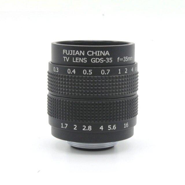 Профессиональный 35 мм f/1.7 Объектив CCTV C Гору Адаптер + 2 Макро Кольца Для Sony camera свободная перевозка груза