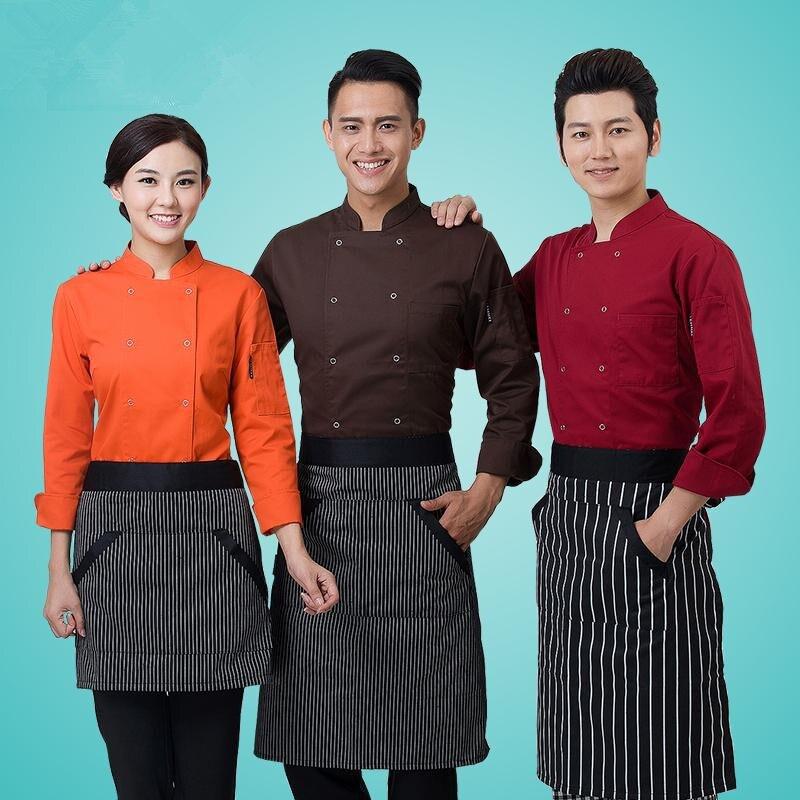 இAlta calidad de manga larga cocineros cocina colores chef ...