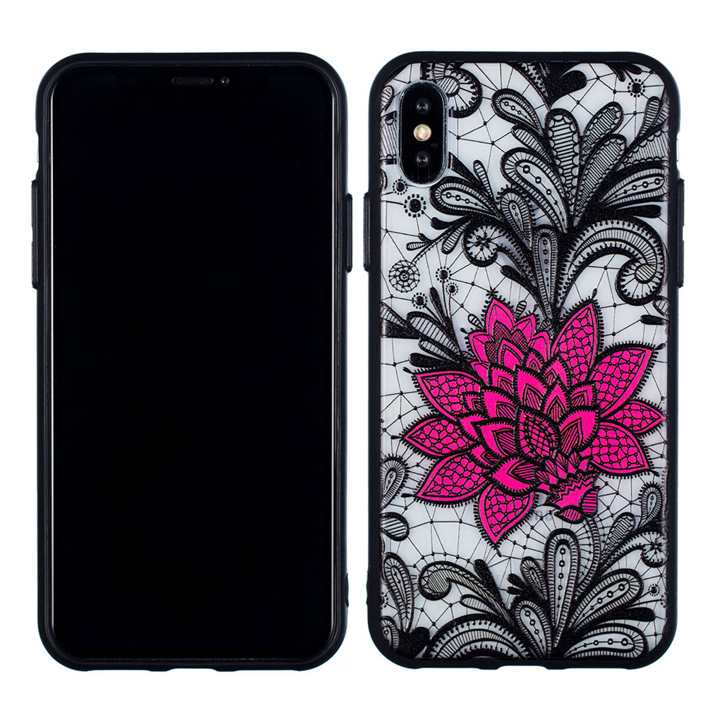 KIPX1059_2_JONSNOW Phone Case for iPhone 5S 6S 7 8 Plus Emboss Floral Rose Lace Protective Case for iPhone X XR XS Max PC Back Cover