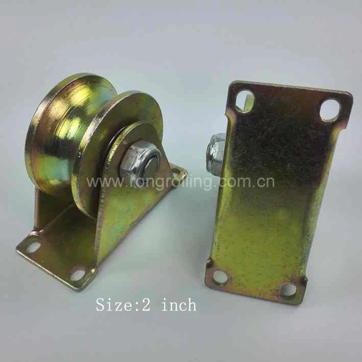 2 Pcs Metal Axles Window Pulley Door Sliding Two Rollers Wheel 6mm