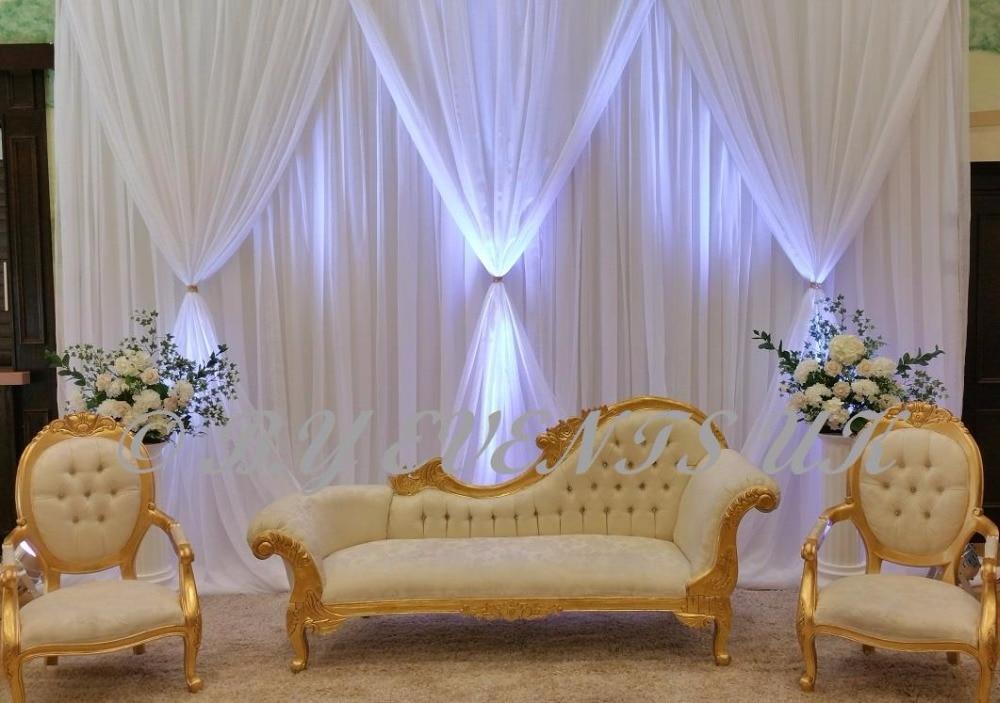 10ft H 20ft W Pure White Luxury Wedding Backdrop