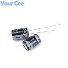 100 шт. Электролитические Конденсаторы 400 В 4.7 МКФ 8X12 ММ Алюминиевый Электролитический Конденсатор