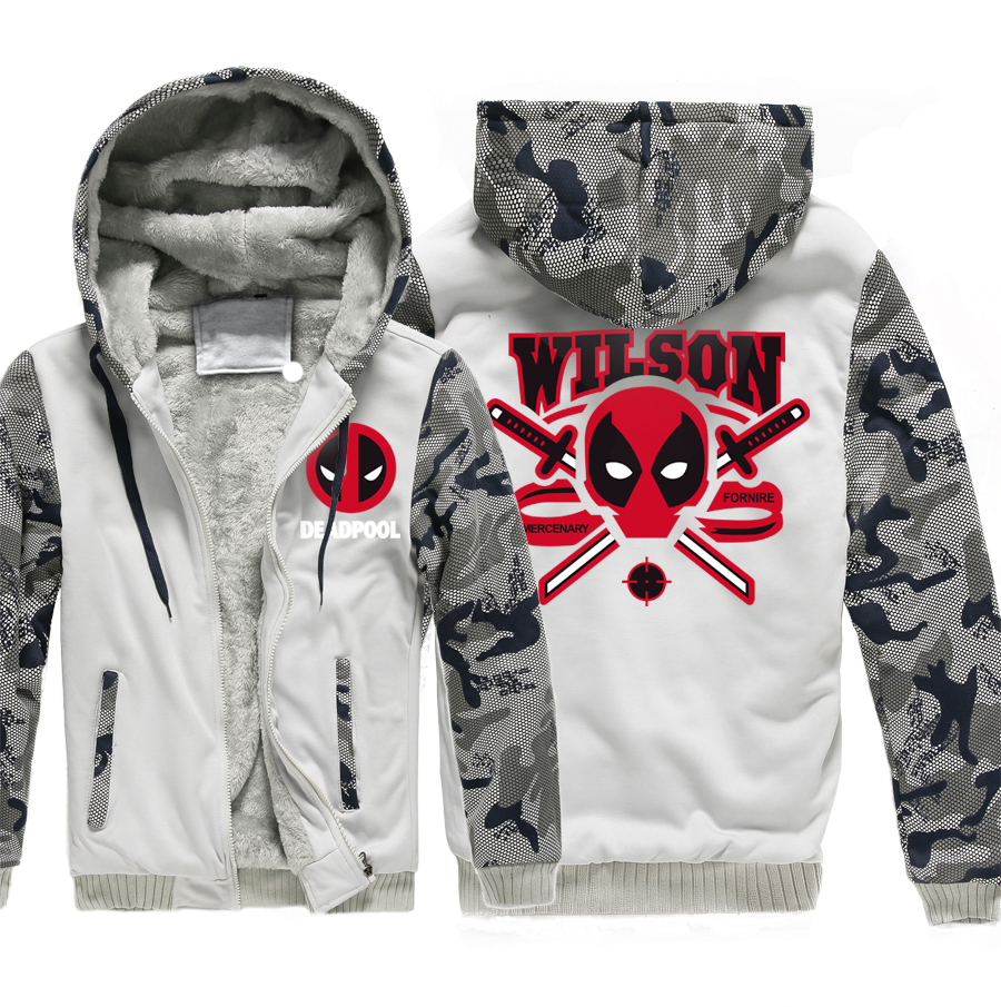 Hooded men wool liner long sleeve tracksuits harajuku hipster warm Camouflage color styl ...