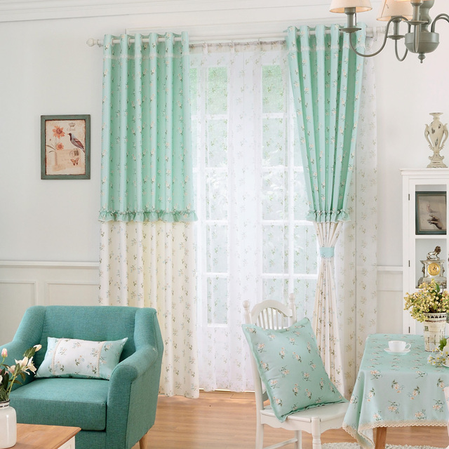 Cafe Curtains Blackout Drape Curtains Rustic Living Room Curtains Bedroom  Window Treatments Bathroom Flowers Blind Fabric