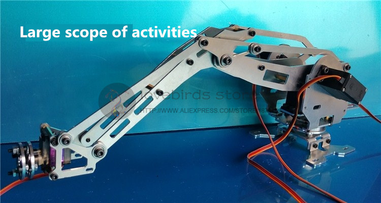 4 DOF CNC aluminum robotic arm frame Palletizing robot model 4 asix robot arm 4 servos