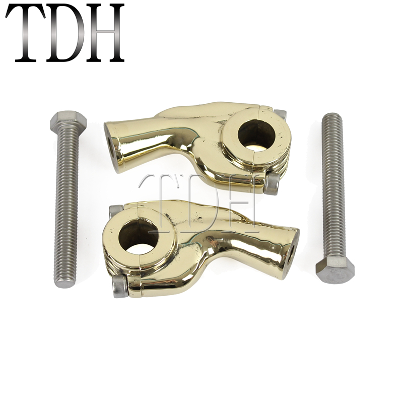 Brass Motorcycle 2-5/8 Handlebar Riser Universal For 22mm Or 25mm Bars Clamp Mount For Harley Bobber Chopper Springer Choice Materials Back To Search Resultsautomobiles & Motorcycles Handlebar