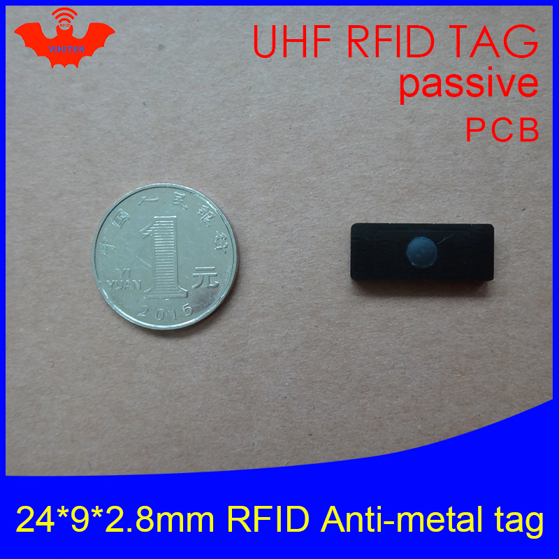 UHF RFID Anti-metal Tag 915mhz 868mhz Alien Higgs3 EPCC1G2 6C 24*9*2.8mm Small Rectangle PCB Smart Card Passive RFID Tags