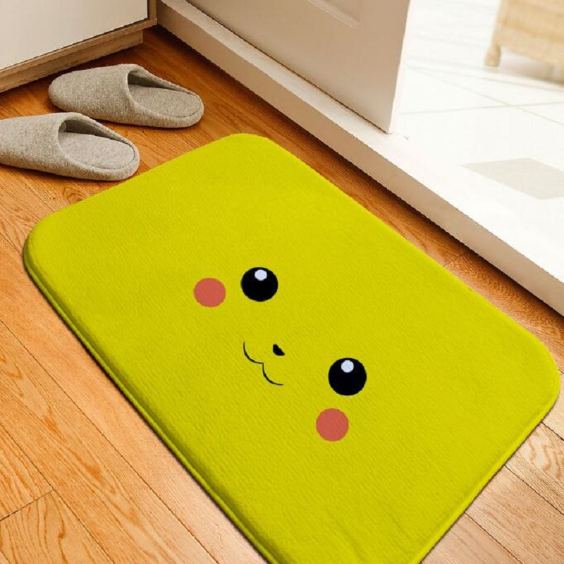 floor mats for bathroom bath mat pikachu printing rug toilet 18325
