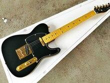 Top Quality cheap price GYTL-2032 Matte Black color Gold hardware maple fingerboard  beautiful TL Electric Guitar, Free shipping цена в Москве и Питере