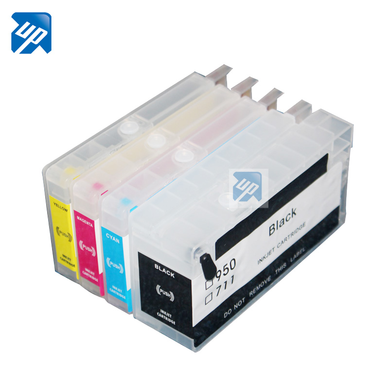 UP brand 5sets For 711 Designjet T120 T520 refillable ink cartridge with chips Empty free shipping