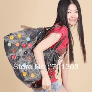 denim cloth rivets with point shoulder women Messenger bag lady Casual Pack fashion handbag сумка для ноутбука wy a023 point breaker messenger bag синяя