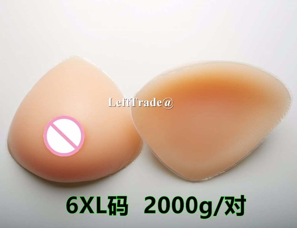 ФОТО 2000g Triangle Crossdress Silicone Breast forms Realistic Big Boobs Insert