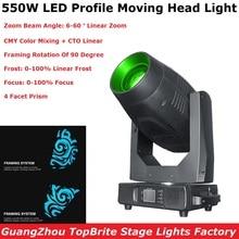 Professional Lyre LED 550W Moving Head Light Beam Spot Wash Framing 4IN1 Moving Head For Stage Wedding DJ Light Nightclub Light стоимость