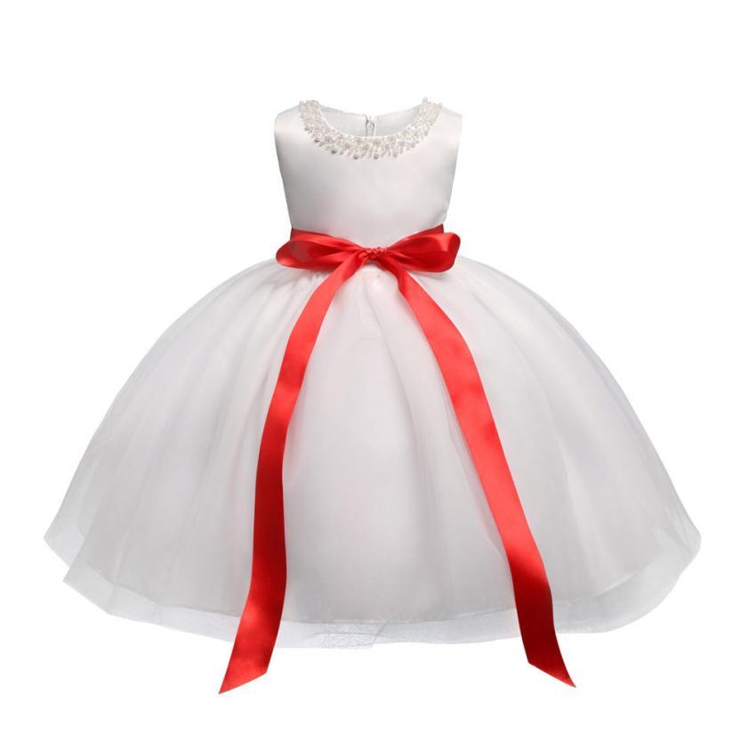 TELOTUNY 2018 Baby Girls Infant Toddle Dinosaur Bow Cartoon Sleeveless Clothes Princess Dress For Party Girls Dress 0425