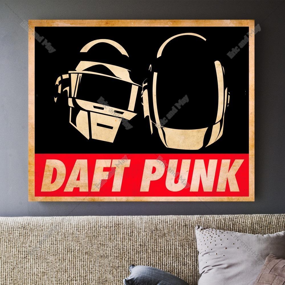 clsico daft punk mscara msica canvas art print poster pared cuadros para la sala decoracin casa