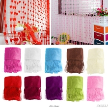 Curtains for Living Room 200cm x 100cm Silk String Curtain blinds Window Door Divider Sheer Curtains Valance Window kitchen #