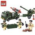 242 Canhão pçs/set DIY Blocos de Construção Caminhão Do Carro Montar Brinquedos Brinquedo Iluminação Enigma Crianças Brinquedos Presentes