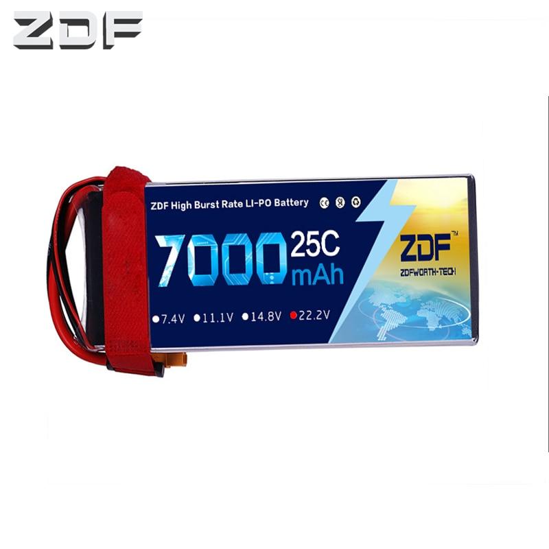2018 ZDF Goede Kwaliteit 22.2 V 7000 mAh 6 S Lipo Batterij 25C Max 50C voor RC Vliegtuig Helicopter Quadrotor AKKU auto vrachtwagen boot-in Onderdelen & accessoires van Speelgoed & Hobbies op  Groep 1