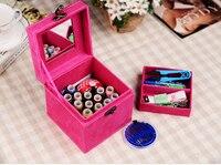 Галерея Вышивание комплект коробки стежка шить Вышивание комплект коробка/22 цвета Вышивание Box Set