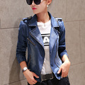 Fashion Women Denim Jacket Woman Casual Slim Jean Jacket Long Sleeve Zipper Denim Coat Outwear Female Clothing Plus Size S-XXL