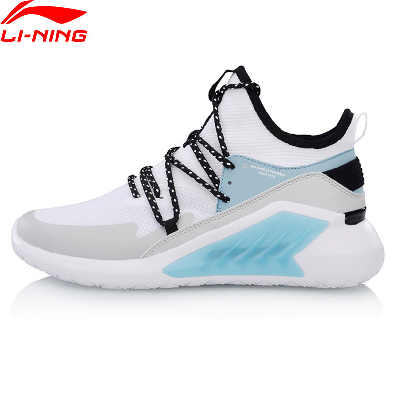 Li Ning Women EXTRA MID Walking Shoes Mono Yarn Breathable Comfort LiNing Cloud Sport Shoes Leisure
