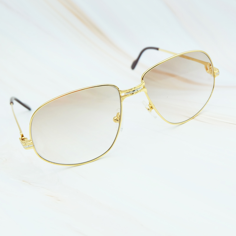 01ba6b89aa7 Luxury Mens Sunglasses Metal Brand Designer Carter Glasses 2018 Vintage  Sunglasses Men Frame Oversized Sunglass High Quality-in Sunglasses from  Apparel ...