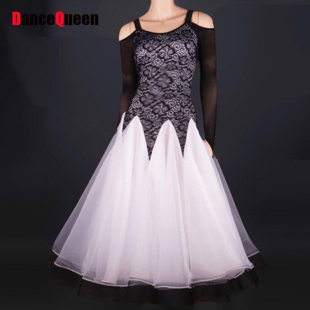 2017 New Hot Lady Ballroom Dance Dress Black Pattern/Print Tops White Milk Silk Skirt Backless Flamenco Pole Dance Dress q01 fashionable stripe pattern milk silk skinny dress white black m