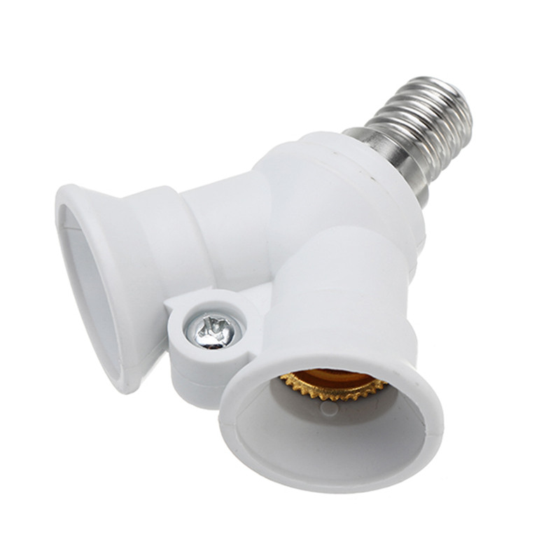 CLAITE E14 To 2 E14 Bulb Lamp Base Holder Converter Socket Adapter Splitter Converter Socket For Home Light AC100-230V