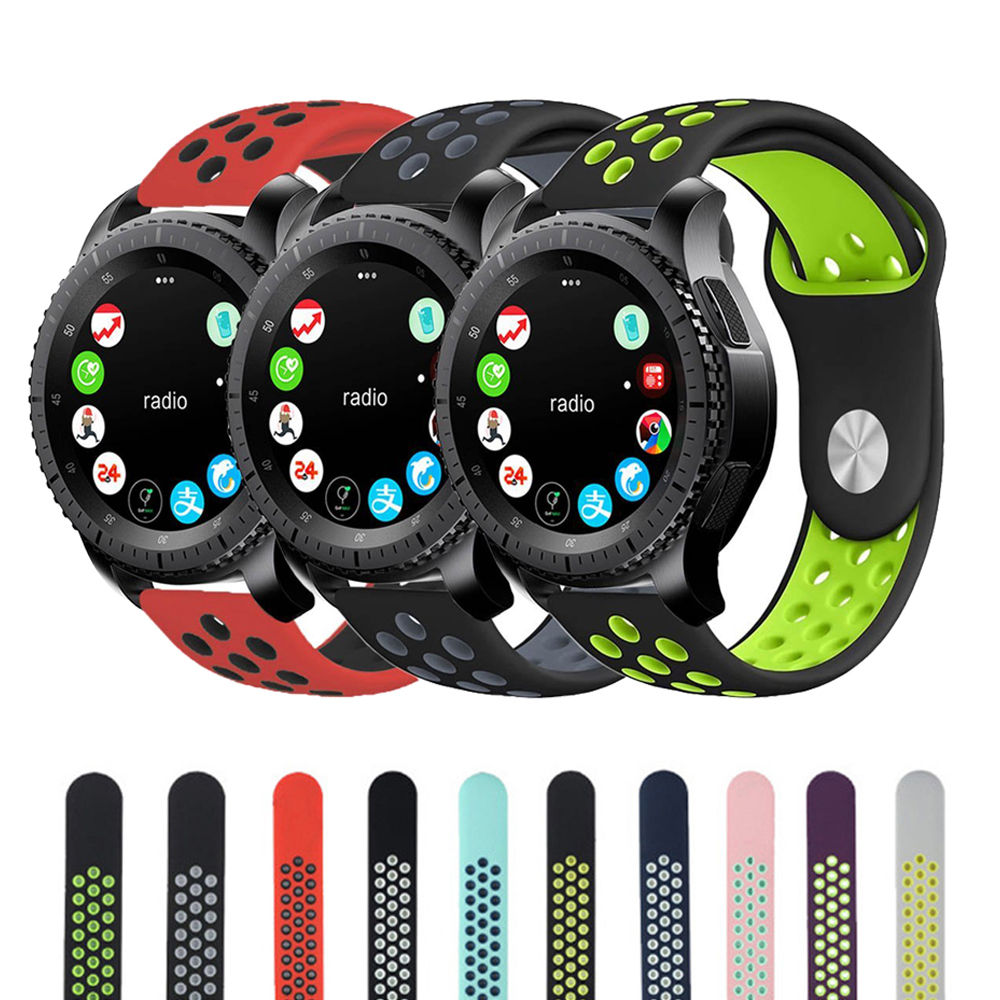 22mm Silicone Watch Band For Samsung Gear S3 frontier Strap Rubber wrist WatchBand for Xiaomi Huami Amazfit Sport Strap crested sport silicone strap for samsung gear s3 replacement bracelet rubber band for samsung gear s3 watch band