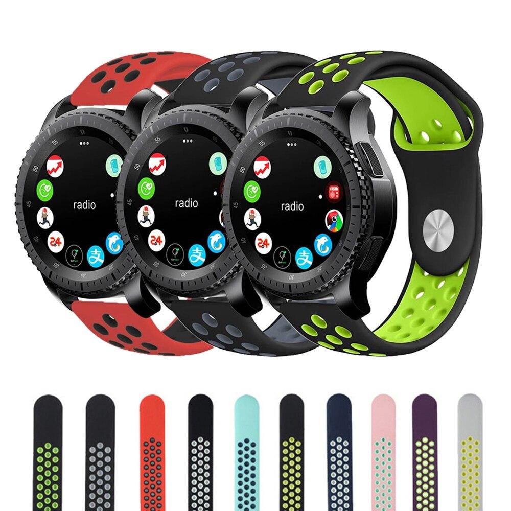 22mm Silikonuhrenarmband Für Samsung Getriebe S3 frontier Gummiband handgelenk Armband für Xiaomi Huami Amazfit Sport Band