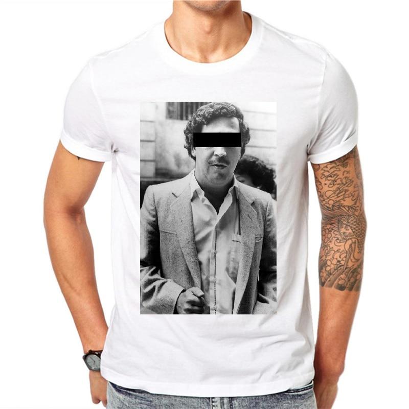 Cotton 100% New Gangster, Pablo Escobar T Shirt, Weed, Mafia, Scareface, Luciano, Capon Men T-shirt Tee Tops Ropa De Hombre 2018