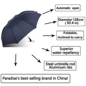 Image 3 - 128cm גדול מטרייה אוטומטית 128cm גברים גשם אישה Windproof גדול זכר נשים שמש 2 Floding מטרייה גדולה נסיעות חיצוני