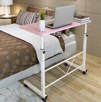 H الوردي دفتر الكمبيوتر مكتب السرير التعلم مع رفع المنزلية للطي المحمول السرير الجدول الكتابة مكتب كمبيوتر مكتبي