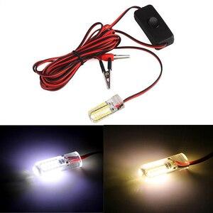 Image 1 - 24/48/96 LEDs łodzi rybackich światło przywabiające, trudno byłoby nam powiedzieć, jak to ryb pod wodą lampki nocne 12 V biały/żółty wodoodporna lampa