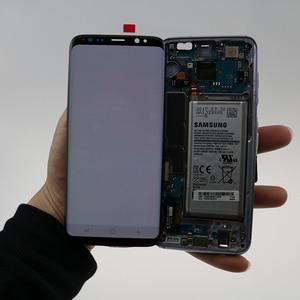 Image 3 - شاشة LCD أصلية لظلال الحروق S8 مع إطار لسامسونج جلاكسي S8 G950 G950F شاشة S8 Plus G955 G955F محول رقمي لشاشة اللمس