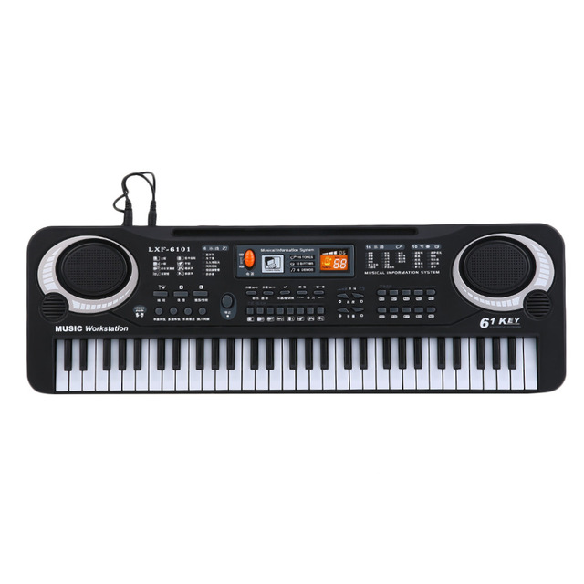 61 Keys Music Electronic Digital Keyboard Electric Organ Children Great Gifts With Microphone Musical Instrument free shipping
