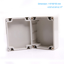 Free shipping , waterproof IP66  ABS Plastic Watertight box apply for terminal or switch enclosure 115*90*55mm F3