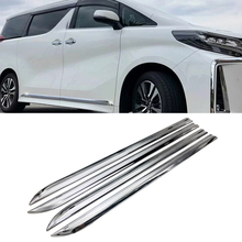 Car Accessories Styling For Toyota Alphard Vellfire 30 series 2016 2017 18 19 Body Door Side Skirt Accent Moulding Sticker Trim