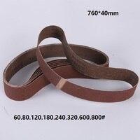 NEW 150pcs 760*40mm Abrasive Sanding Belt + 1pcs Tube Belt Sanders Polisher Belt machine