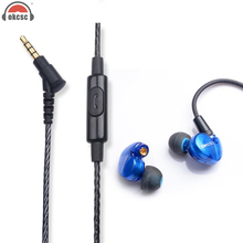 OKCSC DD3 Hifi Hybrid 1BA+1D Earphones Ear-Hanging Design Sport Running Earbud Headsets MMCX Cable Material With Mic