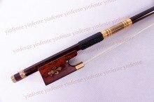 Neue 4/4 Violine Bogen erhalten qualität Schlangenholz Bogen string Goldene Farbe Blume eingelegten Muster