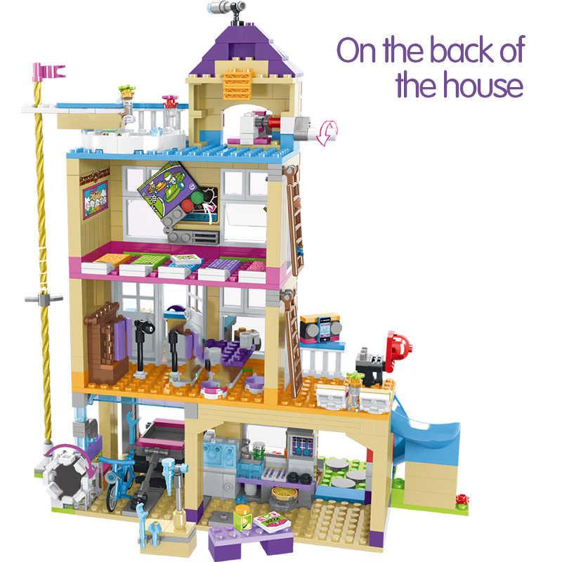 868pcs อาคารบล็อกหญิงมิตรภาพ House ซ้อนอิฐเข้ากันได้สาวเพื่อนเด็กของเล่นเด็ก GB08