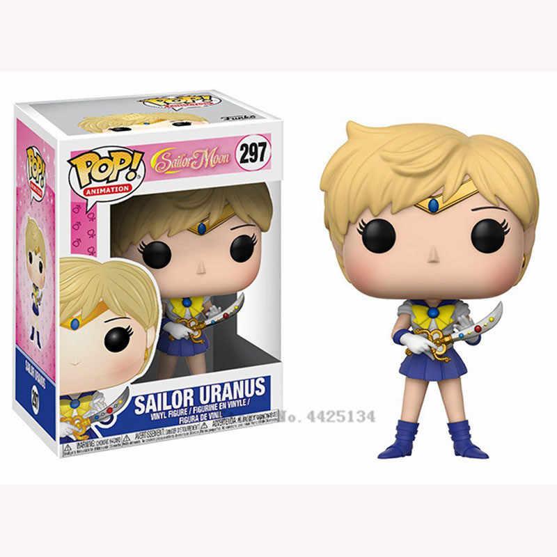 ファンコ Pop セーラームーン & ルナテーマフィギュア像ウサギキャラクターアクションフィギュア人形セーラーちびムーンセーラーネプチューンギフト女の子のため