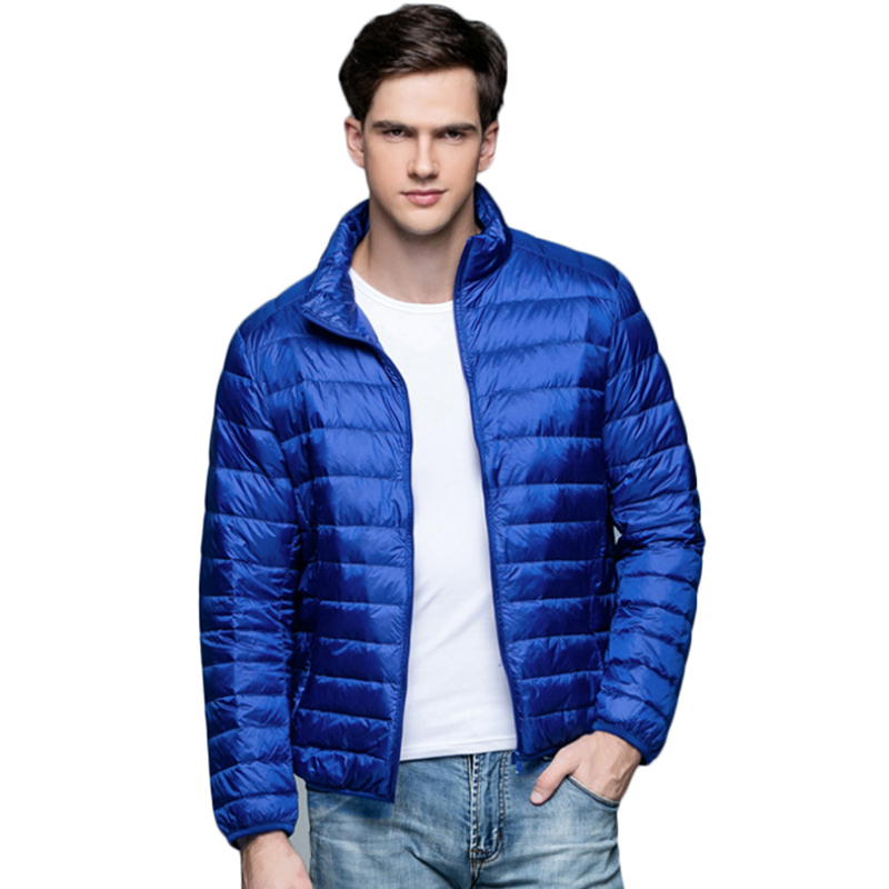Men Jackets Solid Breathable Winter Duck Down Jacket Mens Outdoors Coat Lightweiht Parka Plus Size XXXL jaqueta masculina