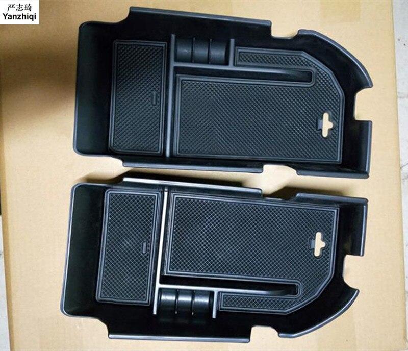 La izquierda y la derecha de conducción coche centro de la consola reposabrazos caja de almacenamiento caja de brazo resto organizador contenedor bandeja para Toyota Camry 2018 2019